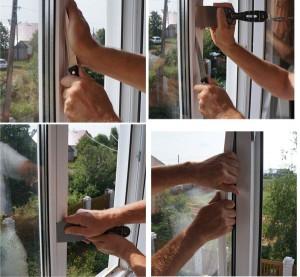 снять стеклопакет с окна