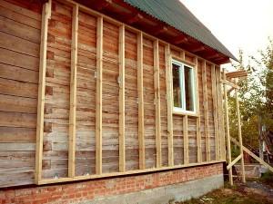 деревянная обрешотка под сайдинг